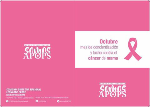 Octubre Mes de concientización y lucha contra el cáncer de mama
