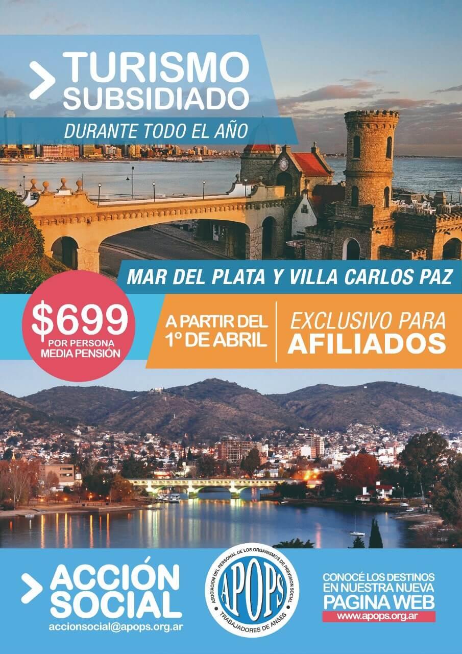 Apops Turismo subsidiado Todo el año