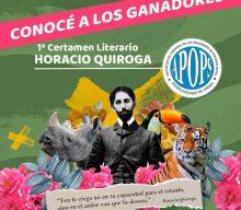 Ganadores 1er Certamen Literario «Horacio Quiroga»
